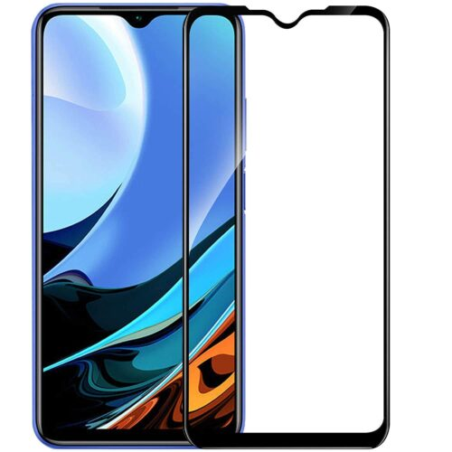 Tigerify Tempered Glass/Screen Protector for Redmi 9 Power (Black Colour) Edge To Edge Full Screen Coverage and Full Glue 1