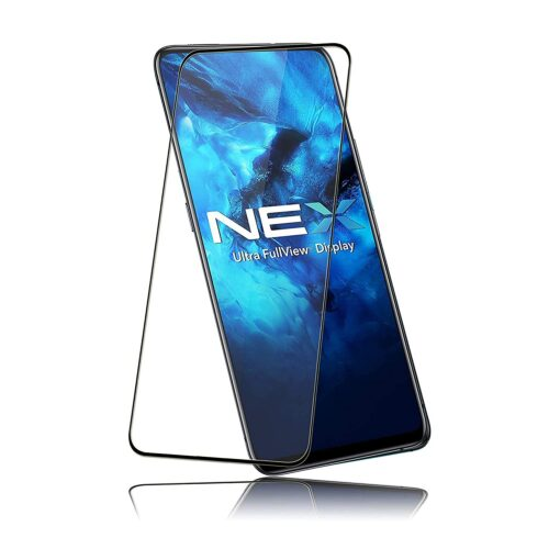 Tigerify Tempered Glass/Screen Protector for Vivo NEX (Black Colour) Edge To Edge Full Screen Coverage and Full Glue 1