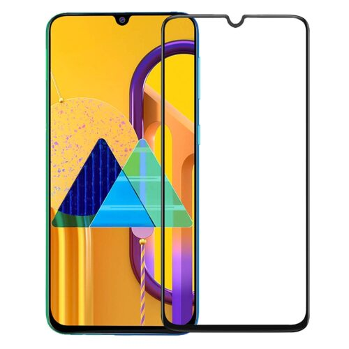 Tigerify Tempered Glass/Screen Protector for Samsung Galaxy M21 (Black Color) Edge To Edge Full Screen Coverage and Full Glue 1