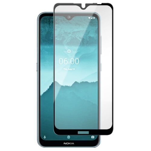 Tigerify Tempered Glass/Screen Protector for Nokia 7.2 (Black Color) Edge To Edge Full Screen Coverage and Full Glue 1