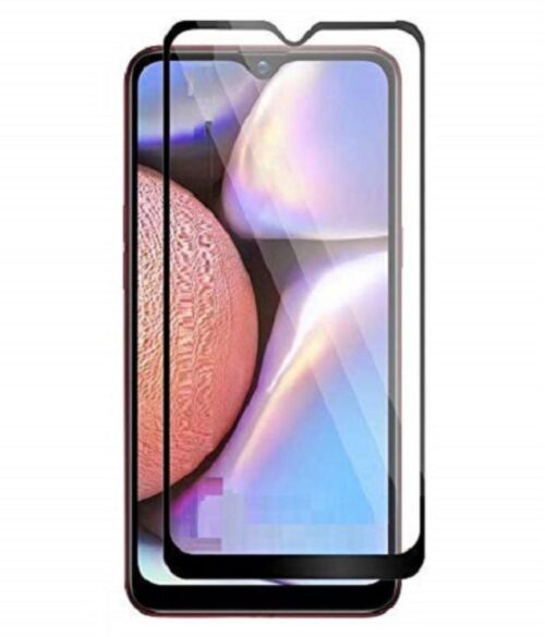 Tigerify Tempered Glass/Screen Protector for Samsung Galaxy A10S (Black Color) Edge To Edge Full Screen Coverage and Full Glue 1