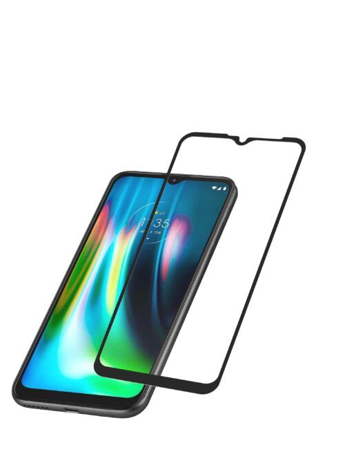 Tigerify Tempered Glass/Screen Protector for Moto G8 Power Lite (Black Colour) Edge To Edge Full Screen Coverage and Full Glue 1