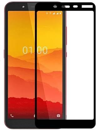 Tigerify Tempered Glass/Screen Protector Guard for Nokia C2 (Black Colour) Edge To Edge Full Screen 1