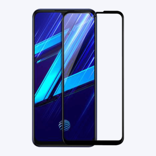 Tigerify Tempered Glass/Screen Protector for Vivo Z1X (Black Color) Edge To Edge Full Screen Coverage and Full Glue 1