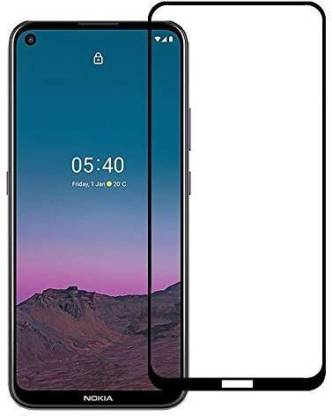 Tigerify Tempered Glass/Screen Protector Guard for Nokia 5.4? (BLACK COLOR) Edge To Edge Full Screen 11D 1