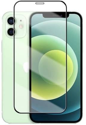 Tigerify Tempered Glass/Screen Protector Guard for iPhone 12 Mini (BLACK COLOR) Edge To Edge Full Screen 11D 1