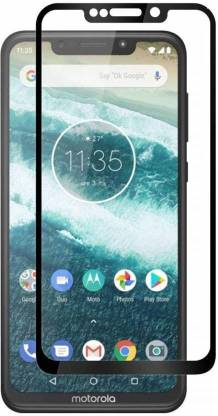 Tigerify Tempered Glass/Screen Protector Guard for Moto One Power (BLACK COLOR) Edge To Edge Full Screen 1