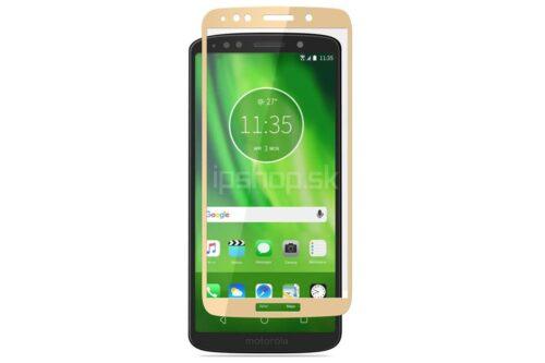 Tigerify Tempered Glass/Screen Protector for Moto E5 (Gold Color) Edge To Edge Full Screen Coverage and Full Glue 1