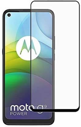 Tigerify Tempered Glass/Screen Protector Guard for Motorola G9 Power, Moto G9 Power (BLACK COLOR) Edge To Edge Full Screen 1