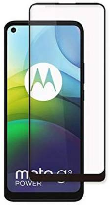 Tigerify Tempered Glass/Screen Protector Guard for Moto G9 Power (BLACK COLOR) Edge To Edge Full Screen 1