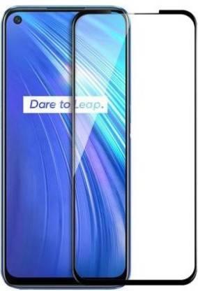 Tigerify Tempered Glass/Screen Protector Guard for Realme 6/6i (BLACK COLOR) Edge To Edge Full Screen 1