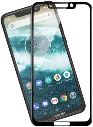 Tigerify Tempered Glass/Screen Protector Guard for Motorola Moto One Power (BLACK COLOR) Edge To Edge Full Screen 1