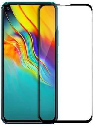 Tigerify Tempered Glass/Screen Protector Guard for Infinix Hot 9, Infinix Hot 9 Pro (Black Colour) Edge To Edge Full Screen 1