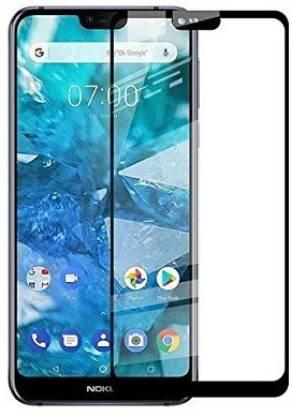 Tigerify Tempered Glass/Screen Protector Guard for Nokia 7.1 (BLACK COLOR) Edge To Edge Full Screen 1