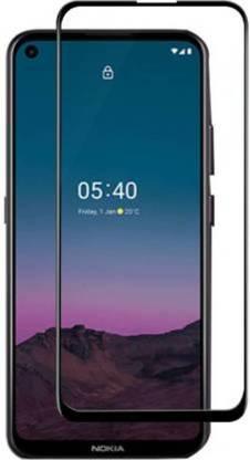 Tigerify Tempered Glass/Screen Protector Guard for Nokia 5.4? (BLACK COLOUR) Edge To Edge Full Screen 1