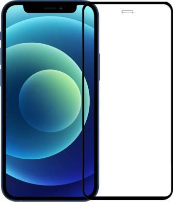 Tigerify Tempered Glass/Screen Protector Guard for iPhone 12 Mini (BLACK COLOR) Edge To Edge Full Screen 1