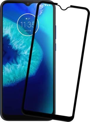 Tigerify Tempered Glass/Screen Protector Guard for Moto G8 Power Lite (BLACK COLOR) Edge To Edge Full Screen 1