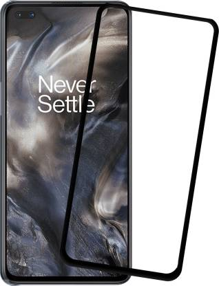 Tigerify Tempered Glass/Screen Protector Guard for OnePlus Nord / 1+NORD (BLACK COLOR) Edge To Edge Full Screen 1