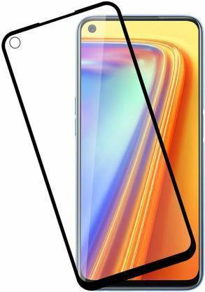 Tigerify Tempered Glass/Screen Protector Guard for Oppo F19 Pro (BLACK COLOUR) Edge To Edge Full Screen 1