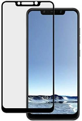 Tigerify Tempered Glass/Screen Protector Guard for Infinix Hot 7 Pro (BLACK COLOUR) Edge To Edge Full Screen 1