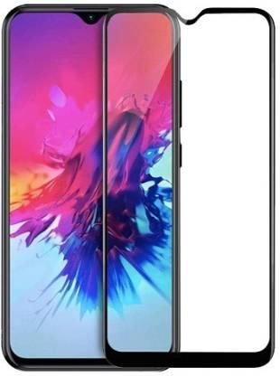 Tigerify Tempered Glass/Screen Protector Guard for Infinix Smart 4 Plus, Infinix Smart 4 (Black Colour) Edge To Edge Full Screen 11D 1