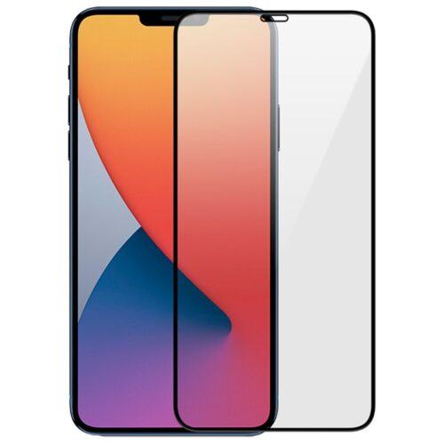 Tigerify Tempered Glass/Screen Protector for iPhone 12 Pro Max (Black Color) Edge To Edge Full Screen Coverage and Full Glue 1