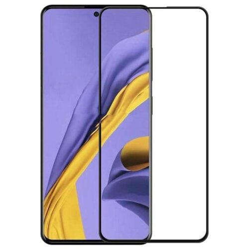 Tigerify Tempered Glass/Screen Protector for Samsung Galaxy A71 (Black Colour) Edge To Edge Full Screen Coverage and Full Glue 1