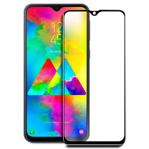 Tigerify Tempered Glass/Screen Protector for Samsung Galaxy A50S (Black Color) Edge To Edge Full Screen Coverage and Full Glue 1