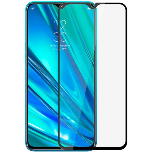 Tigerify Tempered Glass/Screen Protector for Realme 5 (Black Color) Edge To Edge Full Screen Coverage and Full Glue 1