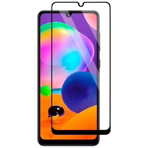 Tigerify Tempered Glass/Screen Protector for Samsung Galaxy A31 (Black Color) Edge To Edge Full Screen Coverage and Full Glue 1