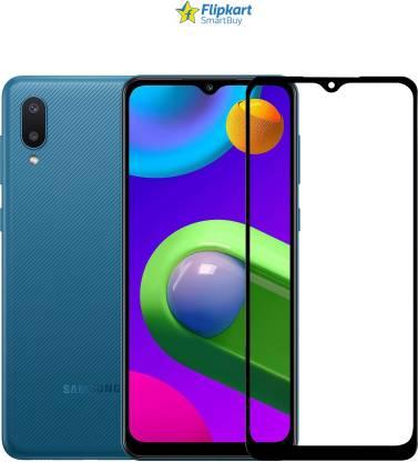 Tigerify Tempered Glass/Screen Protector Guard for Samsung Galaxy M02, Samsung Galaxy M02S (BLACK COLOR) Edge To Edge Full Screen 1