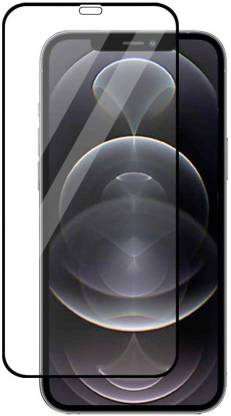 Tigerify Tempered Glass/Screen Protector Guard for iPhone 12 Mini (BLACK COLOUR) Edge To Edge Full Screen 1