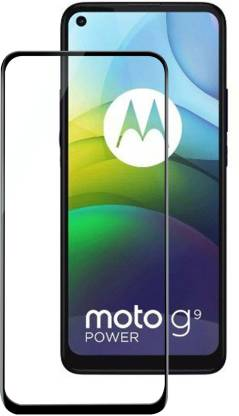 Tigerify Tempered Glass/Screen Protector Guard for Motorola G9 Power (BLACK COLOR) Edge To Edge Full Screen 1