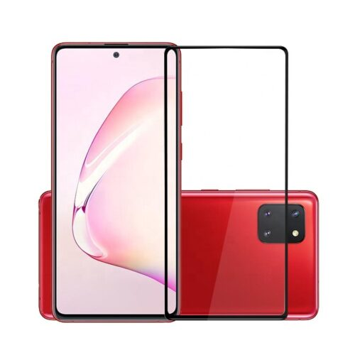 Tigerify Tempered Glass/Screen Protector for Samsung Galaxy Note 10 Lite (Black Color) Edge To Edge Full Screen Coverage and Full Glue 1