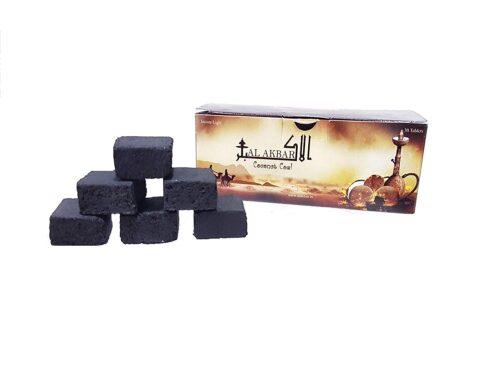 Al Akbar Long Lasting Coconut Coal for Burning Hookah Shisha 30 Pieces / 250 Gram
