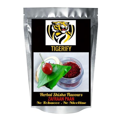 TIGERIFY Premium Quality Shisha Hookah Herbal ZAFRAAN PAAN / KESAR PAAN Flavour 50grams 1