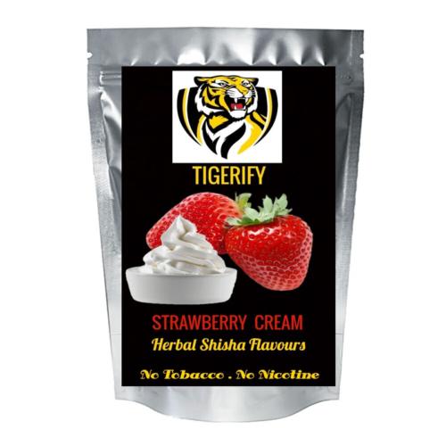 TIGERIFY Premium Quality Shisha Hookah Herbal STRAWBERRY CREAM Flavour 50grams 1