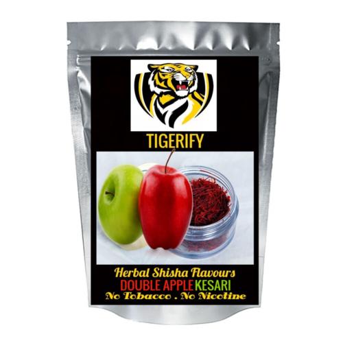 TIGERIFY Premium Quality Shisha Hookah Herbal DOUBLE APPLE KESARI / ZAFRAAN Flavour 50grams 1