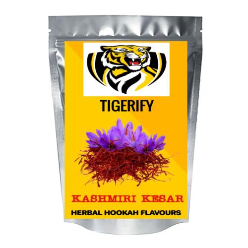 TIGERIFY Premium Quality Shisha Hookah Herbal KASHIMIRI KESAR Flavour 50grams 1