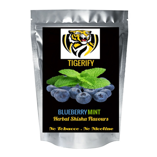 TIGERIFY Premium Quality Shisha Hookah Herbal BLUEBERRY MINT Flavour 50grams 1