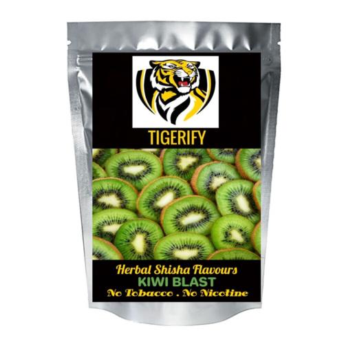 TIGERIFY Premium Quality Shisha Hookah Herbal KIWI BLAST Flavour 50grams 1