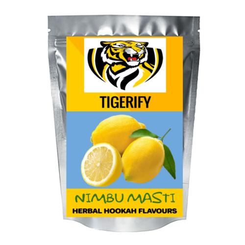 TIGERIFY Premium Quality Shisha Hookah Herbal LEMON MASTI/ NIMBU MASTI Flavour 50grams 1