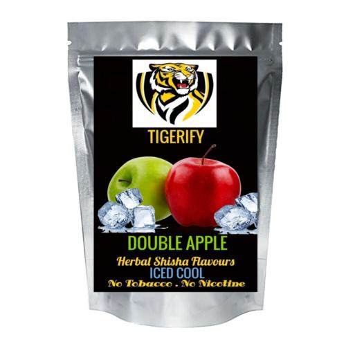 TIGERIFY Premium Quality Shisha Hookah Herbal DOUBLE APPLE ICED COOL Flavour 50grams 1