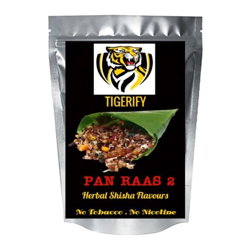 TIGERIFY Premium Quality Shisha Hookah Herbal PAN RAAS 2 Flavour 50grams 1