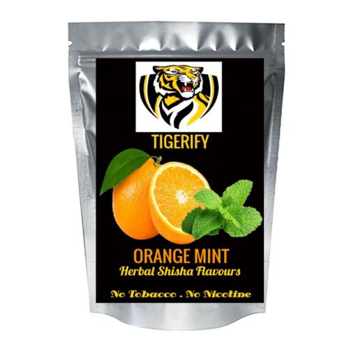 TIGERIFY Premium Quality Shisha Hookah Herbal ORANGE MINT Flavour 50grams 1