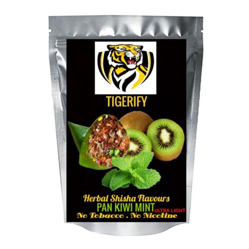 TIGERIFY Ultra Light Shisha Hookah Herbal PAAN KIWI MINT Flavour 50grams 1
