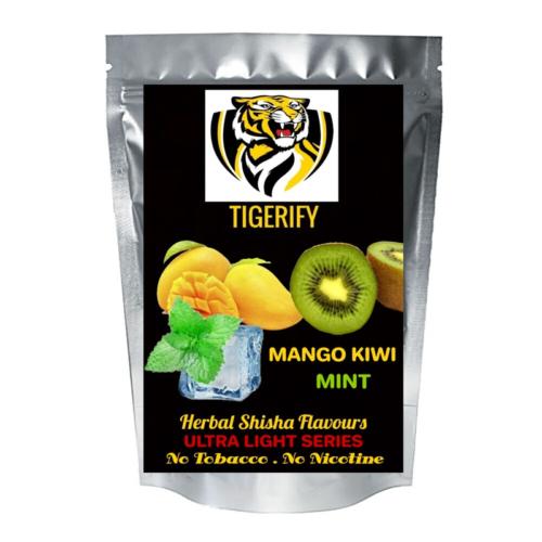 TIGERIFY Ultra Light Shisha Hookah Herbal MANGO KIWI MINT Flavour 50grams 1