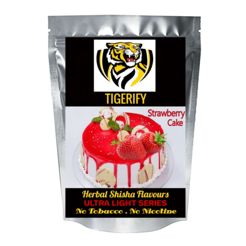 TIGERIFY Ultra Light Shisha Hookah Herbal STRAWBERRY CAKE Flavour 50grams 1