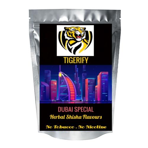 TIGERIFY Ultra Light Shisha Hookah Herbal DUBAI SPECIAL Flavour 50grams 1