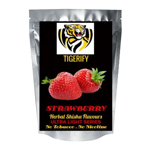 TIGERIFY Ultra Light Shisha Hookah Herbal STRAWBERRY Flavour 50grams 1